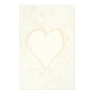 Casamento do coração do ouro papelaria