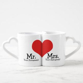 Casamento do coração do Sr. e da Sra. Novo Conjunto De Caneca De Café