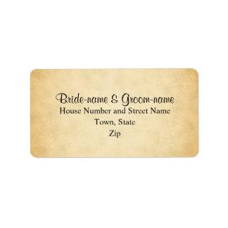 Casamento do design do teste padrão do pergaminho etiqueta de endereço
