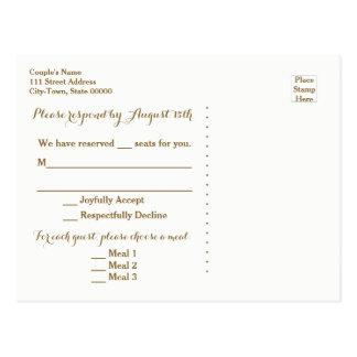 Casamento do destino do cartão do viagem RSVP do