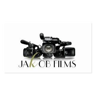Casamento do diretor de filme película da câmara cartão de visita