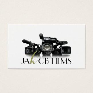 Casamento do diretor de filme película da câmara cartão de visitas