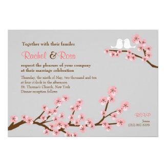 Casamento do jardim da flor de cerejeira