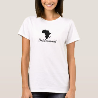 """Casamento do lugar da """"dama de honra"""" - África no Camiseta"""