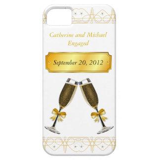 Casamento do ouro de Champagne ou data de vidro do Capa Barely There Para iPhone 5