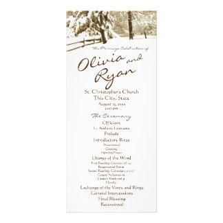 Casamento do país da serenidade do inverno 10.16 x 22.86cm panfleto