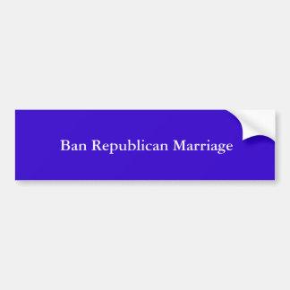 Casamento do republicano da proibição adesivo para carro