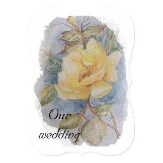 Casamento do rosa amarelo convite 12.7 x 17.78cm