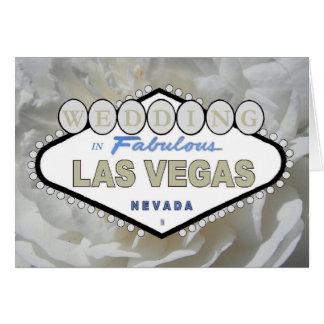 CASAMENTO do rosa branco em Las Vegas fabuloso Cartão Comemorativo