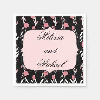 Casamento do rosa do rosa guardanapo de papel