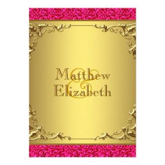 Casamento do rosa quente e do ouro