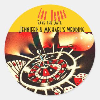 Casamento do tema do casino de Las Vegas Adesivo