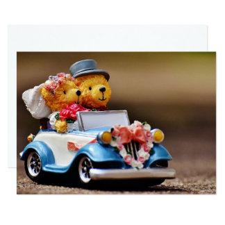 Casamento do urso de ursinho de Personalizable Convite 12.7 X 17.78cm
