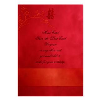 Casamento dobro da felicidade cartão de visita grande