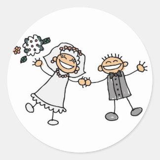 Casamento dos desenhos animados adesivo