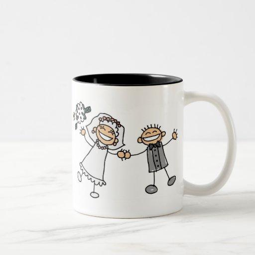 Casamento dos desenhos animados canecas