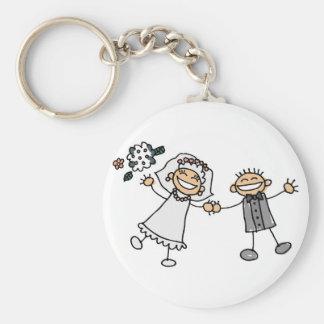 Casamento dos desenhos animados chaveiros