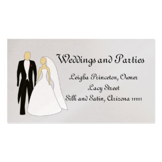 Casamento e partido com noivos cartão de visita