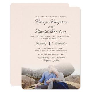 Casamento elegante da foto convite 12.7 x 17.78cm