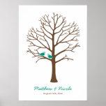 Casamento esmeralda da árvore da impressão digital