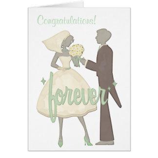 Casamento especial do dia dos parabéns cartão comemorativo