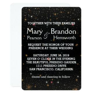 Casamento eterno da nebulosa do universo da convite 12.7 x 17.78cm