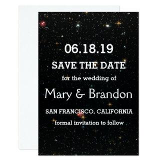 Casamento eterno da nebulosa do universo da convite 8.89 x 12.7cm