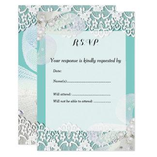 Casamento feito sob encomenda do azul e do laço convite 8.89 x 12.7cm
