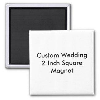 Casamento feito sob encomenda ímã do quadrado de 2 imã de refrigerador
