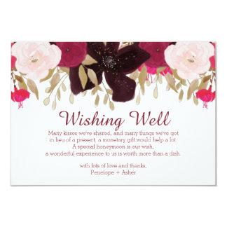 Casamento floral boémio que deseja bem o cartão da