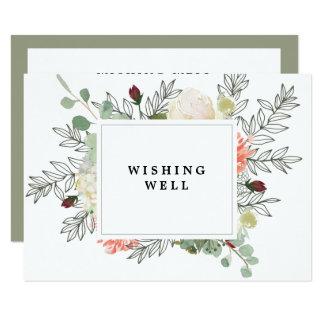 casamento floral botânico que deseja o cartão bom