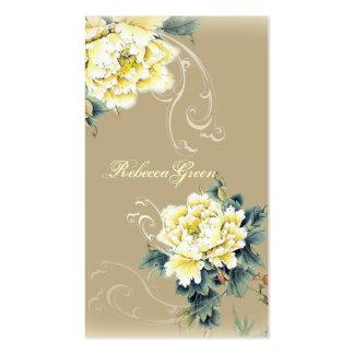 casamento floral da peônia do vintage moderno cartão de visita