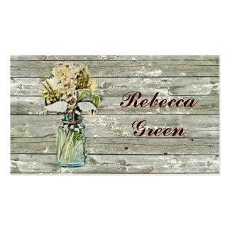 casamento floral do frasco de pedreiro do país rús modelo de cartões de visita