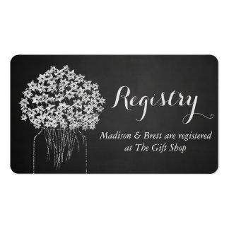 Casamento floral do frasco de pedreiro do quadro cartão de visita