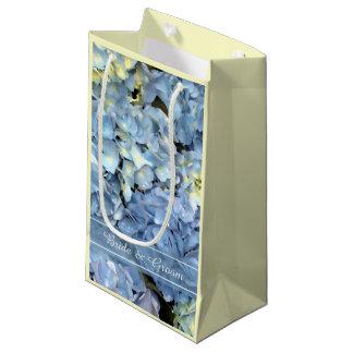 Casamento floral do Hydrangea azul Sacola Para Presentes Pequena