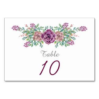 Casamento floral do Succulent da aguarela Cartão