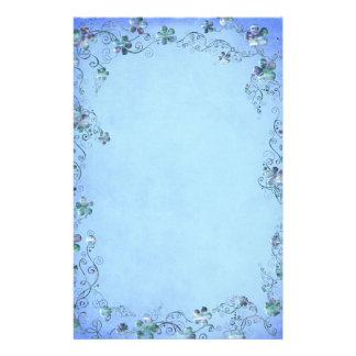Casamento floral do vintage azul papelaria
