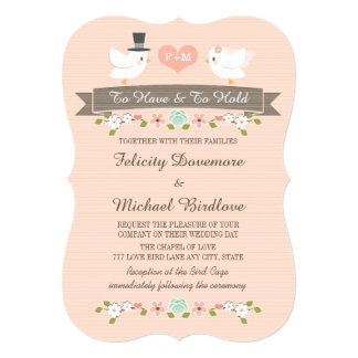 Casamento floral Monogrammed da pomba