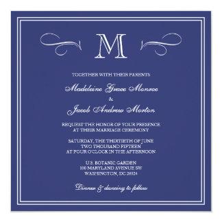 Casamento formal do monograma