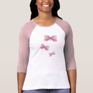 Casamento havaiano bonito da flor da borboleta Alo Camisetas