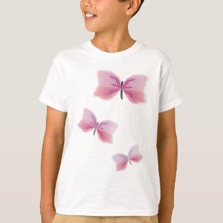 Casamento havaiano bonito da flor da borboleta camiseta