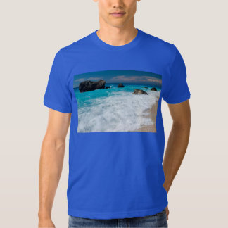 Casamento havaiano bonito do surf da água da praia t-shirt