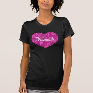 Casamento havaiano do coração camiseta
