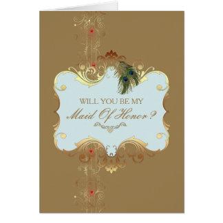 Casamento indiano II - cartão da madrinha de