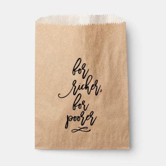 Casamento indicado por letras da mão chique para sacolinha