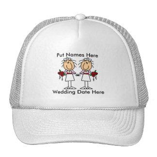 Casamento lésbica a personalizar boné