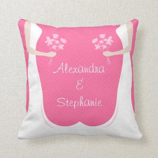 Casamento lésbica personalizado travesseiro