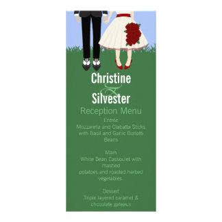 Casamento, menu e programa do jardim 10.16 x 22.86cm panfleto