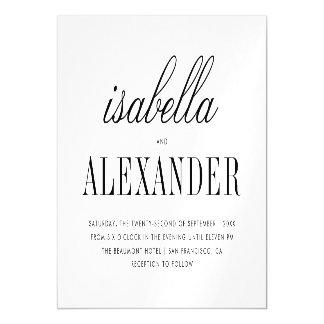 Casamento moderno minimalista da tipografia |