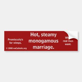 Casamento Monogamous quente, húmido - homens Adesivo Para Carro